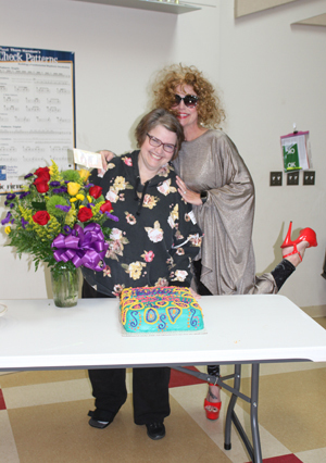 """Tina Turner"" gave a performance of ""Simply the Best"" in honor of Charisse Gregory at her retirement luncheon. Staff members wish Mrs. Gregory the very best, as she will be greatly missed at Colmesneil High School."